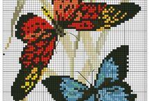 Cross stitch butterflies