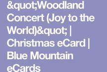 E-Card Christmas Woodland concert