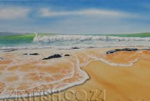 My surf art / Contemporary surf art inspired by the vast surfer's paradise along the South African coast.