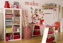 craft room ideas / by Leslie Raup