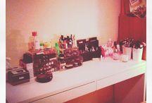 Organización del maquillaje