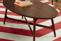 """Mid-Century Decor Style Tables / Turn back time and discover mid-century modern""""s geometric patterns, retro-inspired accents, and modern textures. #throwback"""