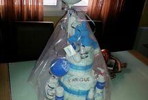 BABYÑAL-tarta de pañales / Regalos para los niños y los padres. Tartas de pañales con cualquier forma que puedas imaginar.