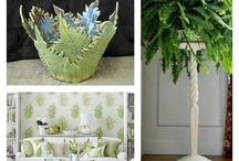 Ferns / I love the fern!  I use it in my pottery creations, and also love to use it in my home decorating.