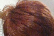 erbe indiane, tinta naturale / Primo passaggio con lawsonia. Bell'effetto su capelli con  precedentemente tintura chimica.