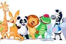 Amigos do panda e o panda