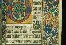 illuminated manuscripts / middeleeuwse miniaturen