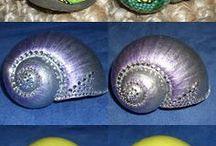 Deniz kabuklarıyla biblolar