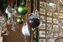 christmas decorations coffee shop