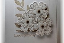 Stampin up flower shop / Cards made with Stampin Up Flower shop stamp set