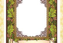 Floral Harvest Cling Background Stamp