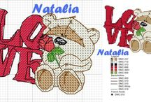 Schemi punto croce Natalia / Schemi punto croce