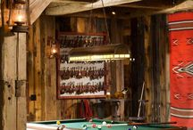 Game Room - Rustic Escape / Designing a rustic escape? Check out these ideas and products. #rustic