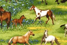 Giddy-Up Horsey / Horse and Equine Fabrics