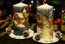 Роспись свечей