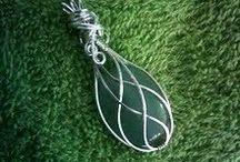 wire wrap stone pendant