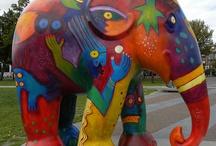 Elephant parade / elephant parade Art pieses