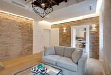 An apartment in Rome in modern and rustic style
