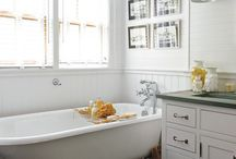 Home: Bathroom Beauty / All about tubs, showers, sinks, vanities, toilets, medicine cabinets, storage, tile, lighting, and more!