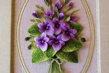 花 刺繍 立体
