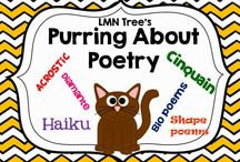 Purring about Poetry / Great Resources, Activities, Lessons, and Tips for teaching poetry in the Elementary Classroom