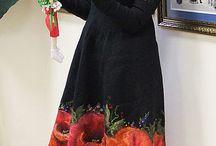 Валяние.Платье