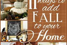 Fall Home Decore