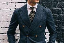 ダブルのスーツ