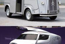 Les concept cars / Né de l'imagination de designers, la plupart des concept cars ne  seront jamais produit. Qu'importe, l'important est qu'ils nous fassent rêver !