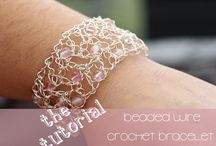 Wire crochet jewellry