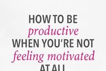 Stay Motivated / Learn how to stay motivated throughout the work day, week, and even through long projects. Higher motivation means higher productivity!