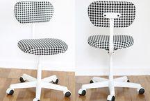 cadeiras, bancos, poufs e mesas