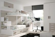 DORMITORIOS JUVENILES E INFANTILES / Ideas que puedesver en esta tablero para amueblar el dormitorio de tus hijos.