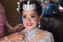 Wedding portfolios / Indonesian Wedding, engagement makeup. #glowing #colorful