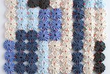 Sew, knit, crochet flowers