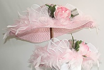 Mommy and Me / These hats are all one-of-a-kind creations.  Contact us if you need two matching little girl's hats or one for grandma, too.  Often times we can accommodate!