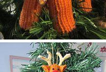 Knitting - Xmas decorations