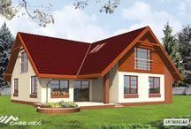 Casa cu mansarda pe structura metalica Rita
