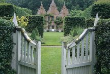 Gardens / Gardens, walls, plants, house exteriors, stone, brick