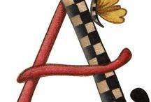 ABC FLORAL / Abecedario, Números y Simbolos Florales