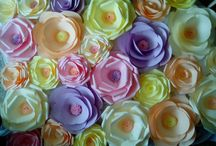 Flori din hartie. / Flori pentru decoruri evenimente.