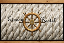 Follow Us! / Follow us through a variety of social media networks! Help us spread the word about Evandy's Boatel.