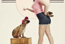 A Vintage Girl that ❤️ Animals