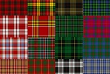 Forever Plaid / A plaid is a pattern consisting of crossed horizontal and vertical bands in two or more colors in woven cloth. Common examples of plaid patterns include: Tartan, the pattern most commonly associated with plaid.     Gingham and Border tartan, featuring bands of equal widths in a simple pattern similar to Check (fabric).     Tattersall (cloth) and Windowpane Plaid, featuring very wide bands alternating with very narrow bands of contrasting colors.  / by Eire Sicilia