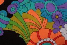 60-70's fabrics by unknown artist/ designer