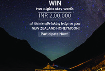 Contest: New Zealand Honeymoon / Booke your New Zealand Honeymoon with us and stand a chance to win 2 nights stay at the Luxury Lodges of New Zealand!