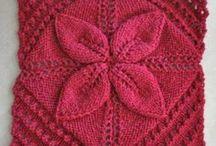 knitting 4 square in 1 block