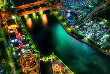 Cities at night / Beautiful photography of various cities of the world at night