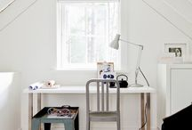 INTERIORS • WORKSPACES | HOME OFFICES / Interiors featuring beautiful study area, home offices or work-spaces.