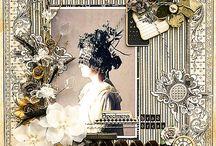 scrapbook heritage/vintage layouts / mostly vintage/heritage / by Deborah Woo